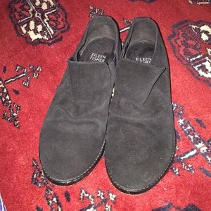 Eileen Fisher Shoes - Eileen Fisher black suede Ale loafers size 7